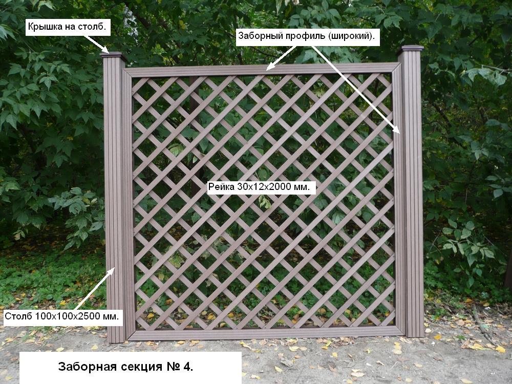 Деревянный забор из реек своими руками
